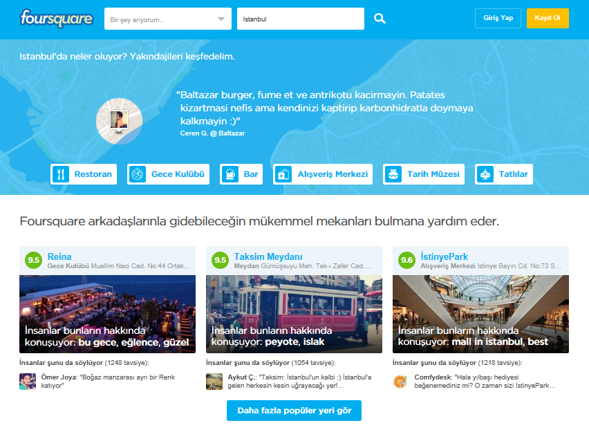 FoursquareTurkiye Gorsel