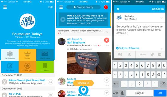 Foursquare şimdi önerileriyle daha akıllı, çok daha hızlı ve yepyeni bir görünüme sahip! Tümüyle yenilenen iOS sürümünü nasıl buldunuz?