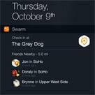 Şimdi iOS 8'de check-in yapmak çok daha kolay ve hızlı!
