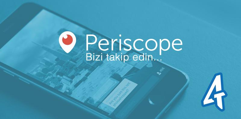 Farklı şehir ve ülkelerden yayınlarımız için bizi Periscope'ta takip edebilirsiniz...