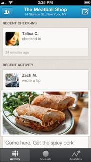 """Foursquare for Business""  iPhone ekran görüntüsü"
