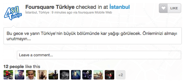 Foursquare Türkiye checked in at İstanbul