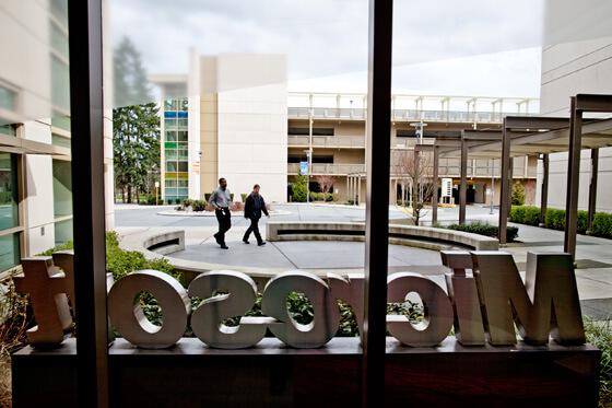 Microsoft'un Washington'daki kampüsü. Fotoğraf: Jim Merithew/WIRED